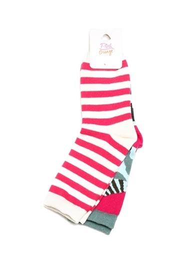 Pink&Orange Çorap Haki